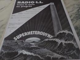 ANCIENNE PUBLICITE TRACE LA ROUTE RADIO LL 1926 - Autres