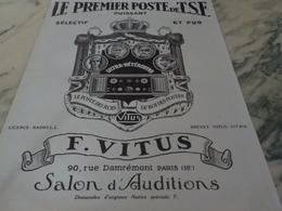 ANCIENNE PUBLICITE PREMIER POSTE DE TSF 1926 - Autres