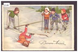 BONNE ANNEE - ENFANTS - B ( PETIT PLI D'ANGLE ) - Anno Nuovo