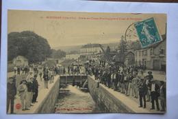 MONTBARD-entree Des Usines Et Canal De Bourgogne-tres Animee- ATTENTION! MAUVAIS ETAT(decollement) - Montbard