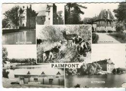 A Voir Cp 35 Paimpont 1960 Chateau De Trecesson Chateau De Broceliande Etang De L Abbaye Etang Des Forges Chasse A Courr - Paimpont