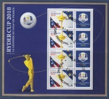 = Bloc Ryder Cup Oblitéré 4 Timbres à 2.60€ Le Golf National La Légende Du Golf En France F5245A - Sheetlets