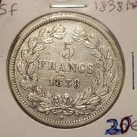 5 Francs 1838 MA - France