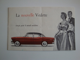 Automobile - Belle Plaquette Publicitaire (originale) Pour La Nouvelle VEDETTE,construite Par Ford à Poissy, - Auto's