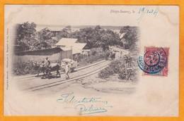 1904 - CP De Diego Suarez, Madagascar Vers Andevoranto Via Tamatave  - Affrt  Local 10 C Type Groupe - Storia Postale
