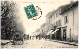 01 COLIGNY - La Grande-Rue Et L'avenue Des Platanes - France