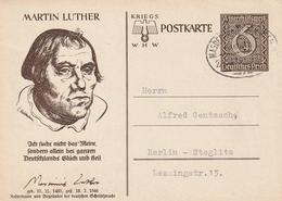 """Deutsches Reich / 1939 / Sonderpostkarte Mi. P 285/02 """"Martin Luther"""" Bahnpost-Stempel (3502) - Stamped Stationery"""