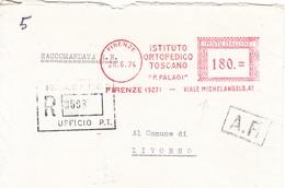 Firenze-26/6/1974-istituto Ortopedico Toscano ''P.PALAGI''-Viale Michelangelo - Machine Stamps (ATM)