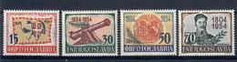 JUGOSLAVIA 1954 - 150° INSURREZIONE SERBA CONTRO TURCHIA - SERIE COMPLETA - MNH ** - 1945-1992 Repubblica Socialista Federale Di Jugoslavia