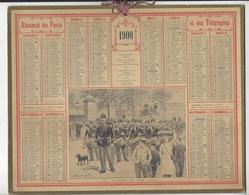CALENDRIER ALMANACH DES POSTES 1900 EUGENE CHAPERON REGIMENT MILITARIA /FREE SHIPPING REGISTERED - Calendari