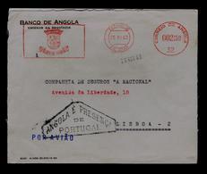 "ANGOLA É PRESENÇA De Portugal"" (VERY RARE War Pmk Patriotic 1963) Used Publicitary Complect Cover EMA Printed Coin S6415 - Philately & Coins"