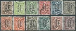 1919 GERMANIA ANTICHI STATI BAVIERA USATO SOPRASTAMPATO SERIETTA - RB34-5 - Bayern