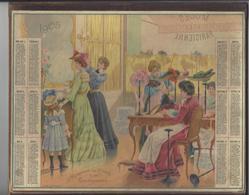 CALENDRIER ALMANACH DES POSTES 1905 MODE MODISTE OBERTHUR RENNES /FREE SHIPPING REGISTERED - Kalender