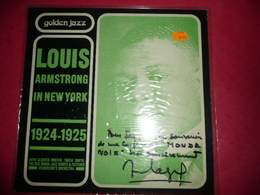 LP33 N°330 - LOUIS ARMSTRONG IN NEW YORK - 1924-1925 - COMPILATION 16 TITRES - DEDICACE A IDENTIFIER MERCI ? - Jazz