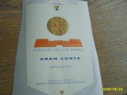 ETIQUETTE FLECHAS DE LOS ANDES GRAN CORTE  2009 BARON EDMOND DE ROTHSCHILD - Bordeaux