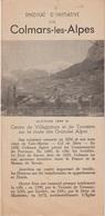 COLMARS LES ALPES - DEPLIANT TOURISTIQUE - SYNDICAT D'INITIATIVE - Toeristische Brochures