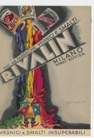"""CARD """"RIVALIN"""" SOC.AN.FABBRICHE VERNICI E SMALTI MILANO RONDO' BOVISA FIRMA SCOLARI -FG-N-2-0882-29339 - Reclame"""