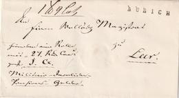 """Hannover / Vorphila-Briefhuelle L1 AURICH (Fe. 153-9), Hs. """"Militaer"""" (3520) - [1] Prephilately"""