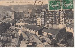 ALGERIE - ALGER - Gare Et Quartier De L'Agha - Alger