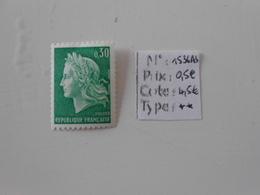 FRANCE YT 1536Ab MARIANNE DE CHEFFER 30c. Vert N° Rouge* - Neufs