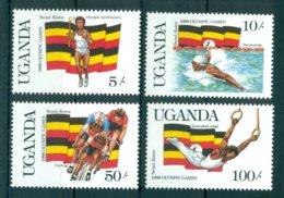 UGANDA *1987 * Complete Set 4 Stamps * MNH** Olympic Games, Seoul - Mi.No 534-537 - Uganda (1962-...)