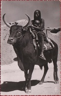 A.E.F. Afrique Equatoriale Francaise Boeuf Porteur - Fille Femme Sein Nu Avec Son Bébé Ethnique Native Ethnic - Guinea Equatoriale