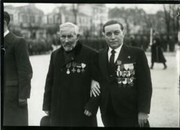 France Jean Schmitt Combattant De 1870 Et Son Neveu Medailles Ancienne Photo 1938 - Guerre, Militaire