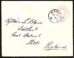 696 - BARBADOS - 1882 - OVERPRINT STATIONERY COVER TO ENGLAND - TO CHECK - Briefmarken