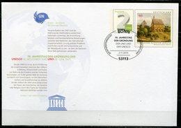 """Germany 2015 Plusbrief """"UNESCO-Welterbe,Kloster Lorsch""""Mi.Nr.??? Mit SST""""Bonn-70.Jahrestag Der Unesco""""1 Beleg - UNESCO"""