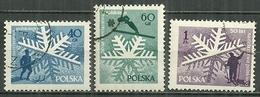 POLAND Oblitéré 882-884 Cinquentenaire Du Ski National Skieur - 1944-.... République