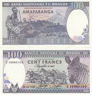 BILLET RWANDA 100 FRANCS - Rwanda
