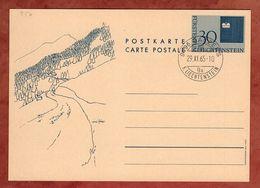 P 50 Landesflagge, Entwertet Balzers 1965 (88774) - Ganzsachen