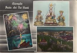 BISCEGLIE-ANDRIA-BARLETTA-TRANI-FESTA DEI TRE SANTI-MULTIVEDUTE-CARTOLINA VERA FOTOGRAFIA-VIAGGIATA 1955-1960 - Andria