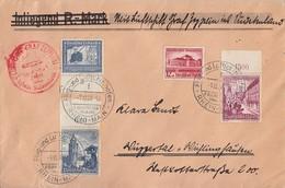 DR Zeppelinbrief Sudetenlandfahrt Mif Minr.669 UR,674,682 OR,683OR Frankfurt 1.12.38 - Briefe U. Dokumente