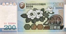 North Korea 200 Won, P-48 (2005) - UNC - Corea Del Nord