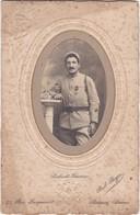Soldat - Décoré - 12é Régt. - 1914-1918 :  Photo. Gaufrée, Toilée Et Médaillon Doré : P. BOYER - Romans-sur-isère - - Krieg, Militär