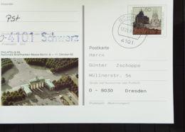 BRD: Gs-Karte Mit OSt. Vom 17.3.93 Handstpl Aus VGO Mit PLZ Unten Nach Vorbild Aus BRD-hier Mit Bestätigung Knr: PSo 28 - [7] Federal Republic
