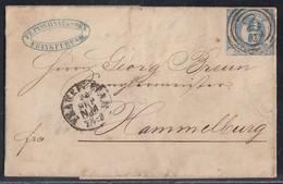 Thurn & Taxis Brief EF Minr.22 Frankfurt 28.9.(1864) Gel. Nach Hammelburg - Thurn Und Taxis