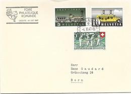 """123 - 73 - Enveloppe Avec Oblit Spéciale """"Foire Philatélique Romande Lausanne 1947"""" - Marcophilie"""