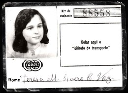 Portugal, PASSE 1998 - CARRIS, Companhia Carris De Ferro De Lisboa - Abonnements Hebdomadaires & Mensuels