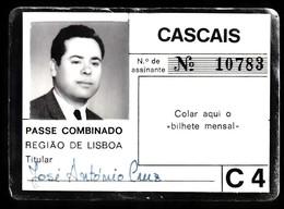 Portugal, PASSE 1989 - Passe Combinado, Região De LIsboa / Cascais - Abonnements Hebdomadaires & Mensuels
