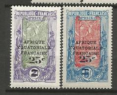 CONGO N° 89 Et 90 NEUF* TRACE DE CHARNIERE / MH - Congo Français (1891-1960)