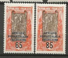 CONGO N° 91 Et 92 NEUF* TRACE DE CHARNIERE / MH - Congo Français (1891-1960)