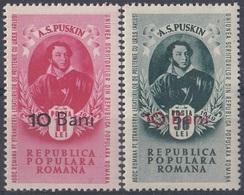 ROMANIA 1306-1307,unused,Puskin - 1948-.... Repúblicas