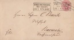 Preussen GS-Umschlag 1 Silbgr. R3 Freudenberg Bei Siegen 15.2.67 - Preussen