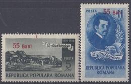 ROMANIA 1313-1314,unused - 1948-.... Repúblicas