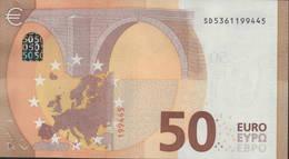 """50 EURO ITALIA  SD  S029  Ch. """"36""""  - DRAGHI   UNC - EURO"""