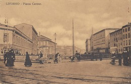 LIVORNO-PIAZZA CAVOUR-CARTOLINA NON VIAGGIATA-ANNO 1910-1920 - Livorno