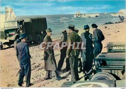 CPM Debarquement En Normandie 14 Juin 1944 Le General De Gaulle Liberateur Foule Le Sol De France Mi - Weltkrieg 1939-45