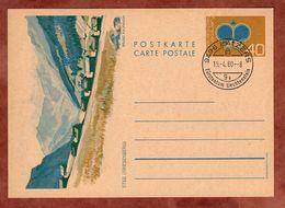 P 80 Krone, Abb Steg Triesenberg, Entwertet Balzers 1980 (88789) - Ganzsachen